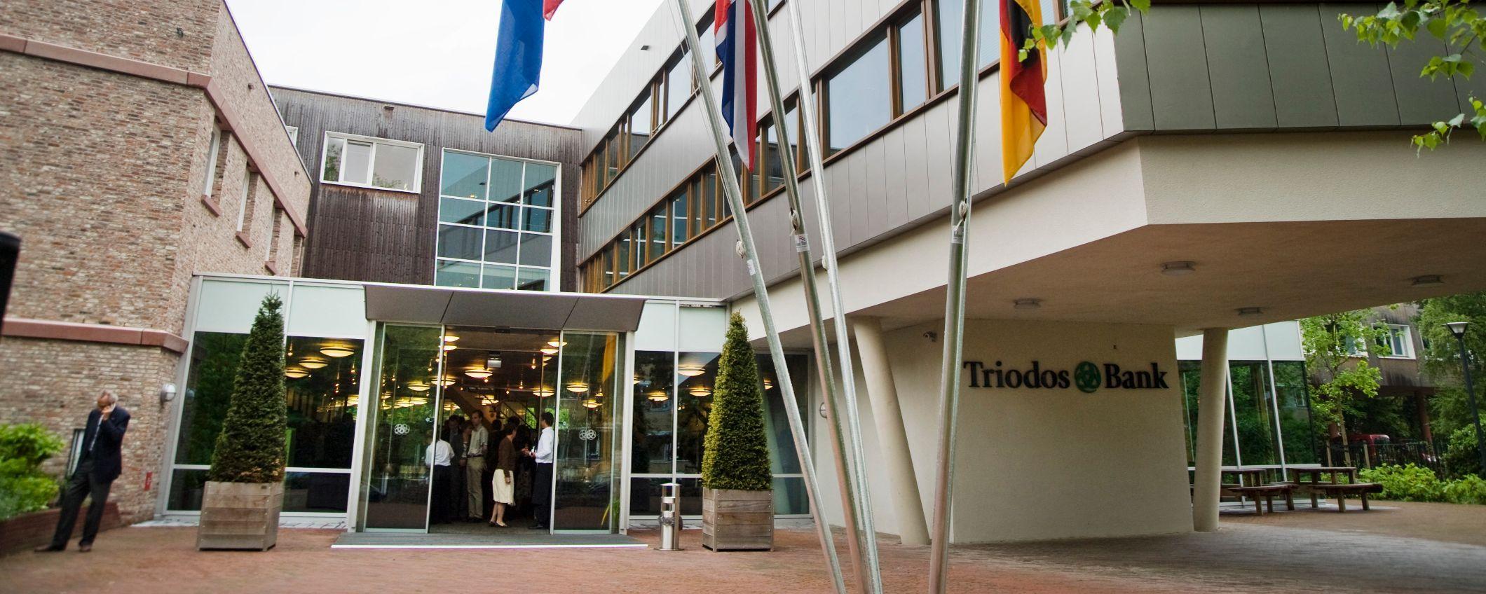 Het hoofdkantoor van Triodos Bank in Zeist